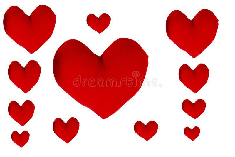 Hjärtaform på vit bakgrund royaltyfri foto
