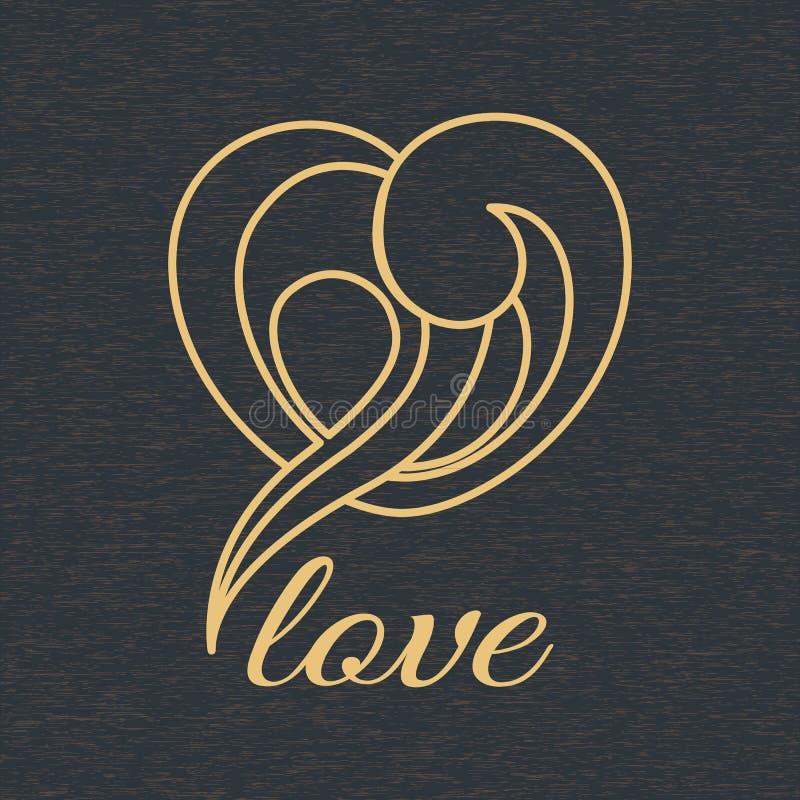 Hjärtaformlogo royaltyfri illustrationer