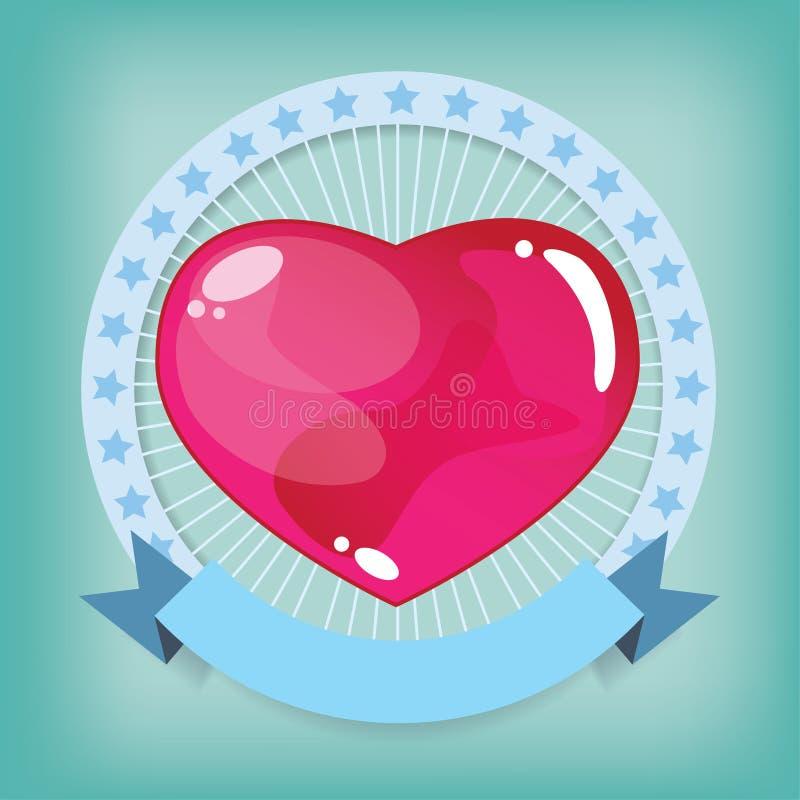 Hjärtagelé i band stock illustrationer