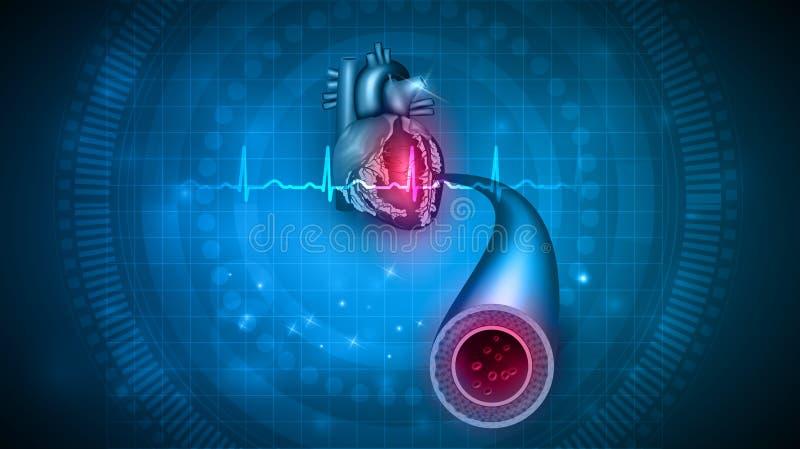 Hjärtahälsovård stock illustrationer