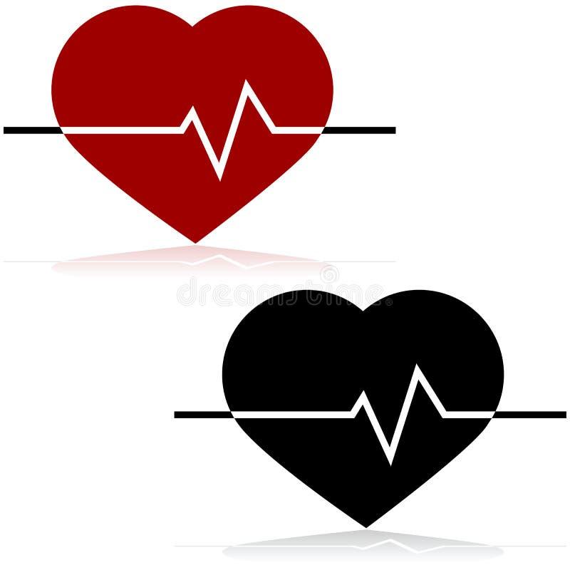 Hjärtahastighet vektor illustrationer