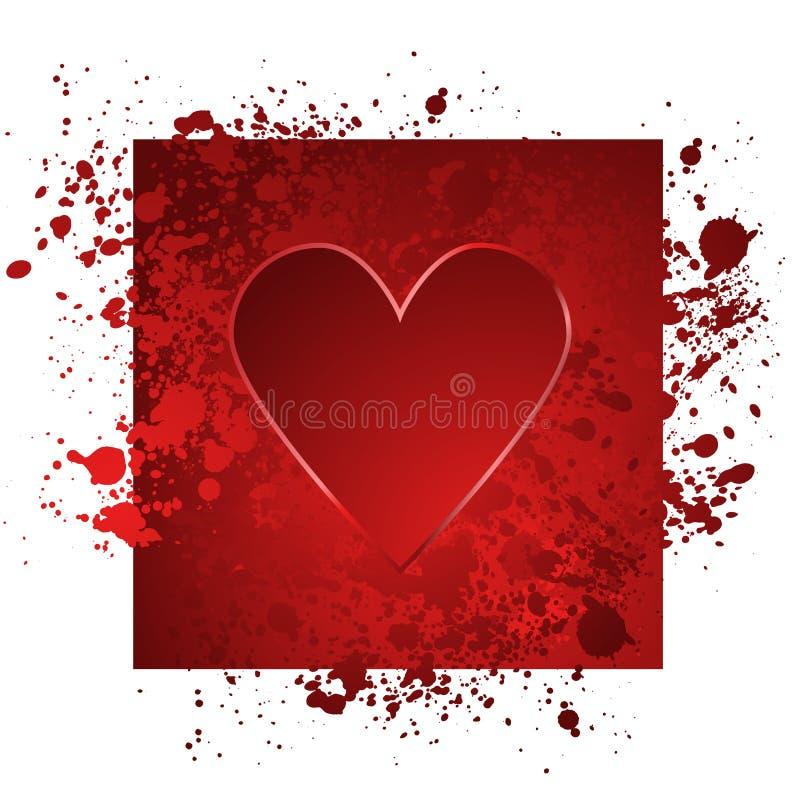 hjärtaillustrationred vektor illustrationer
