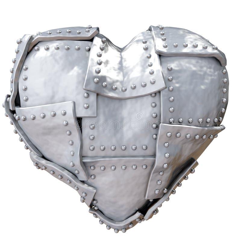 hjärtajärn royaltyfri illustrationer