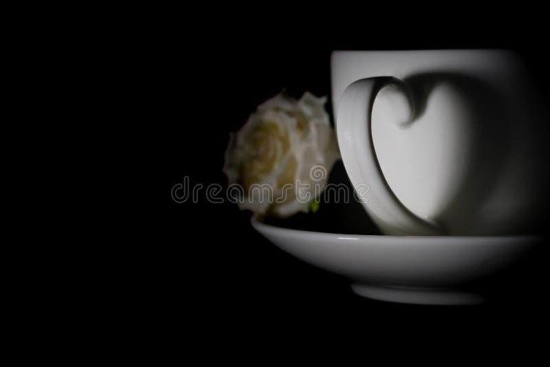 Hjärtakaffekopp arkivbild