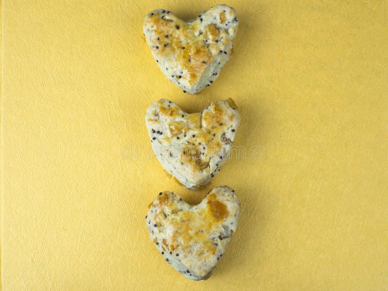 Hjärtakakascones 2 arkivbilder