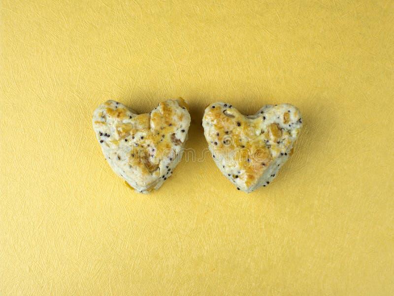 Hjärtakakascones 3 arkivbild