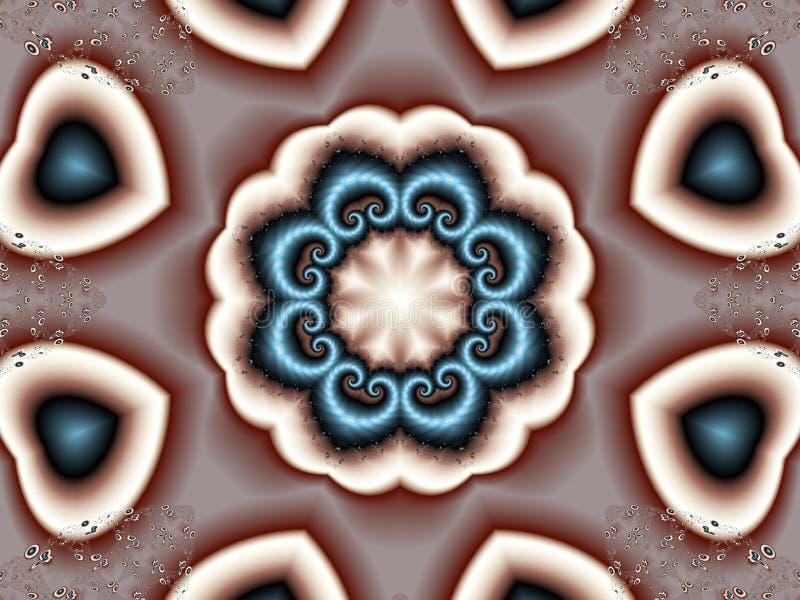 hjärtakaleidoscope vektor illustrationer