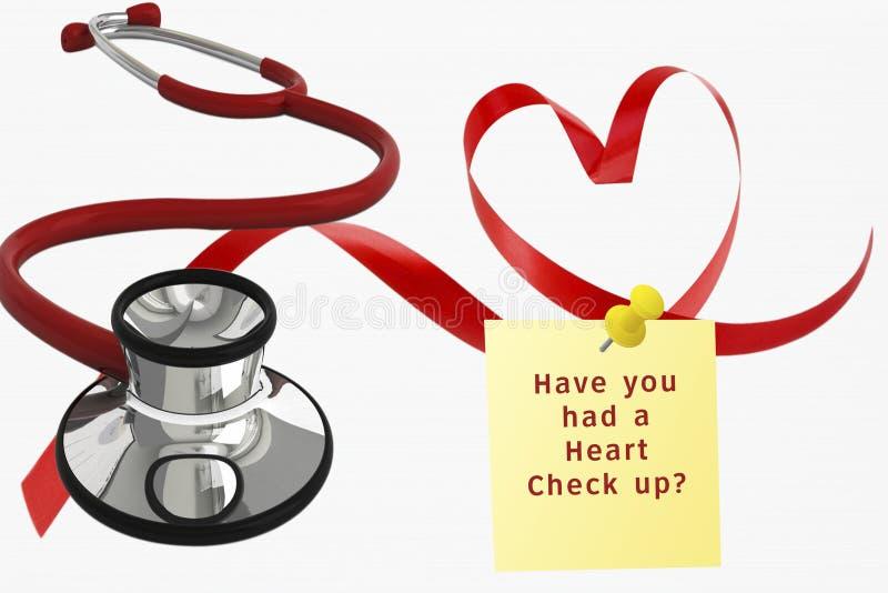 Hjärtakontroll upp arkivbild