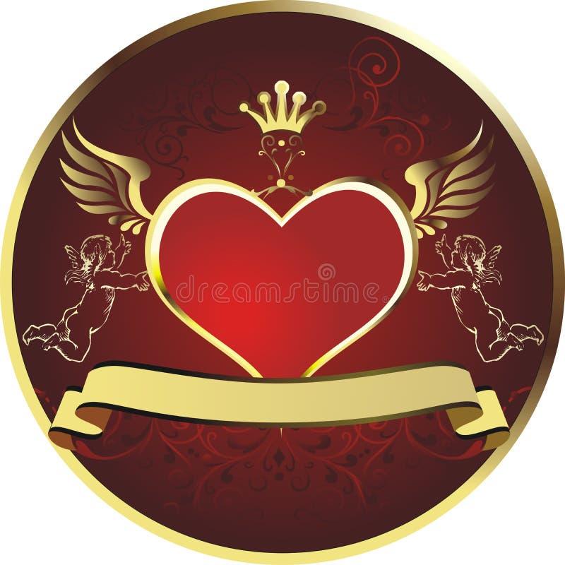 hjärtakunglig person royaltyfria bilder