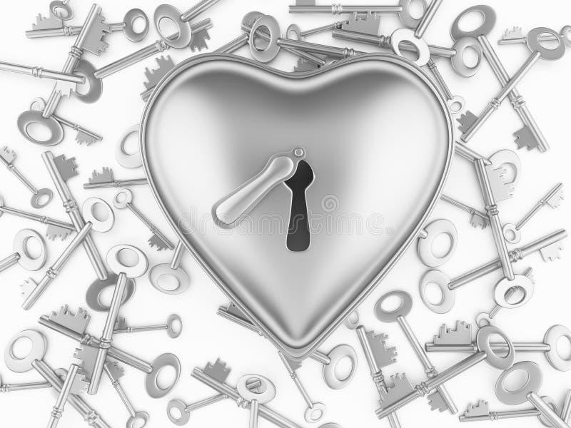 hjärtalås vektor illustrationer