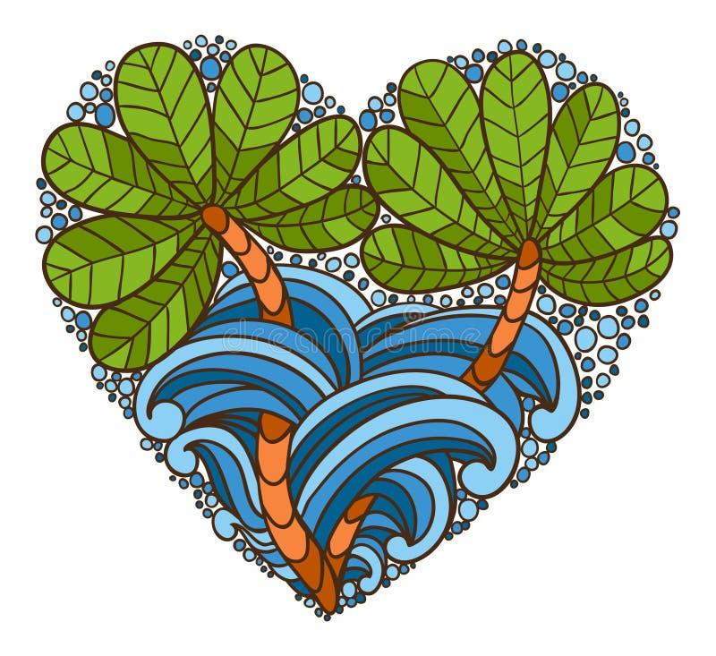 Hjärtalogo royaltyfri illustrationer