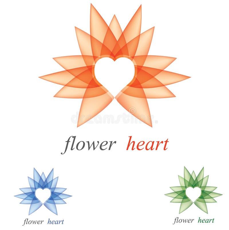 hjärtalogo vektor illustrationer