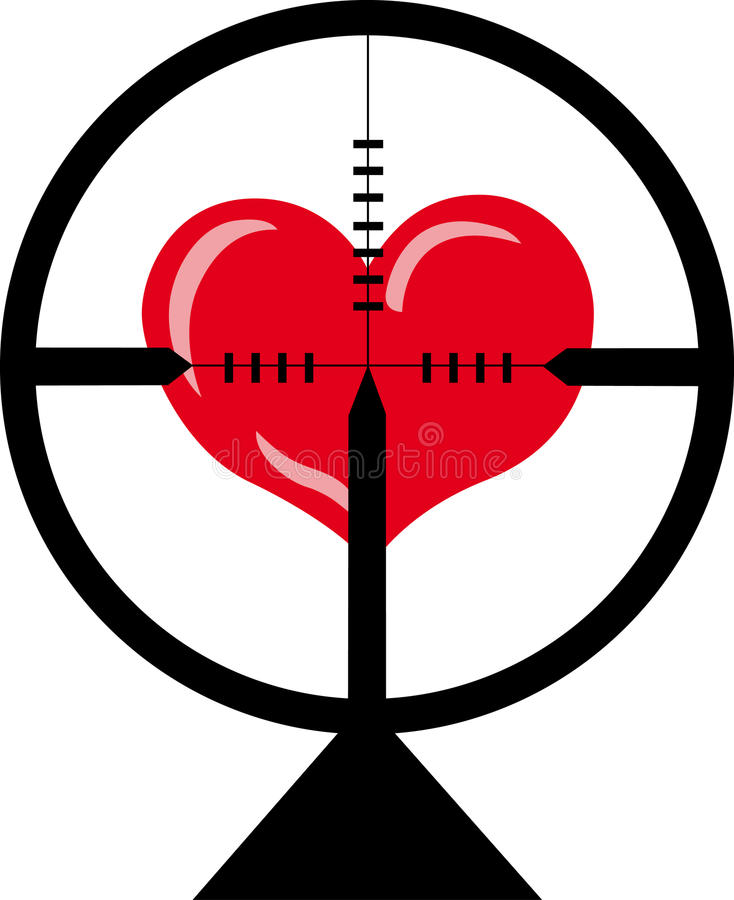 hjärtamål stock illustrationer
