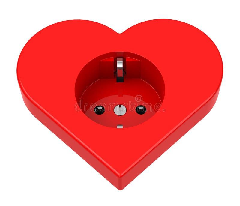 Hjärtamakthåligheten stock illustrationer
