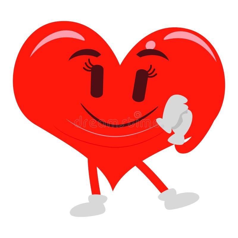 Hjärtamaskot stock illustrationer