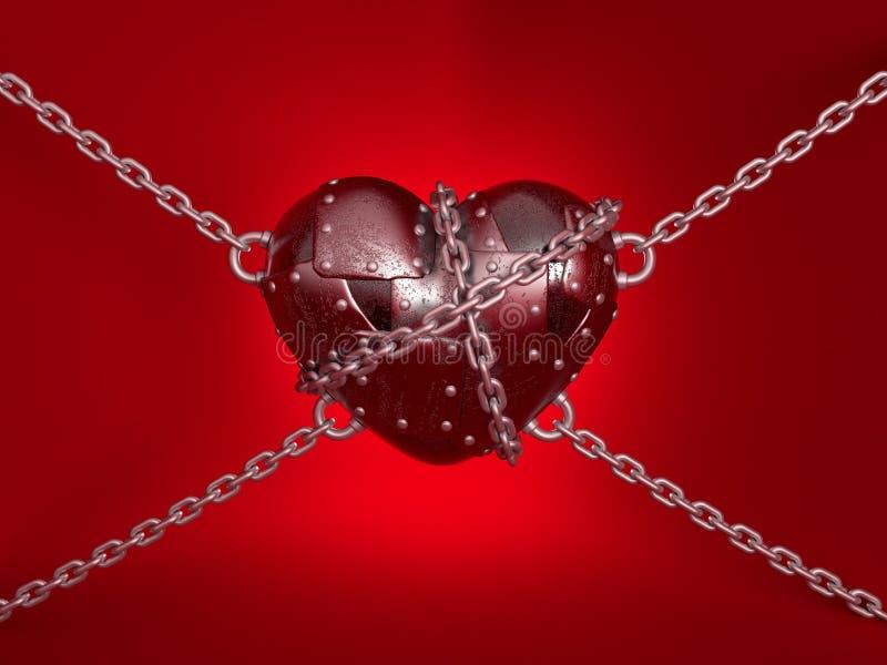 hjärtametall stock illustrationer