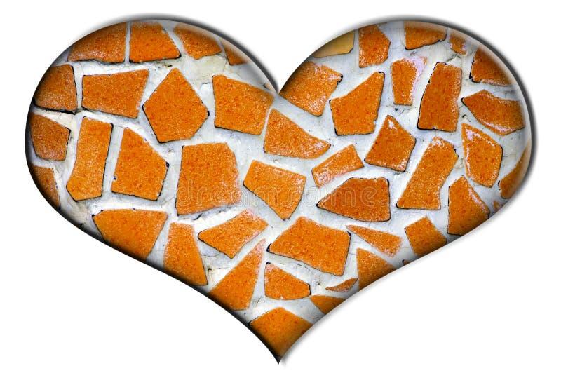 hjärtamosaik arkivfoton