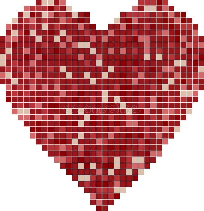 hjärtamosaik stock illustrationer