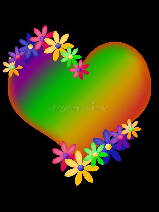 hjärtaneon vektor illustrationer