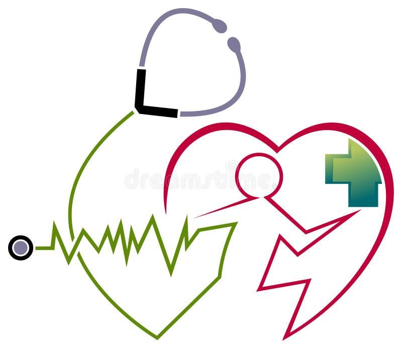 Hjärtaomsorg stock illustrationer