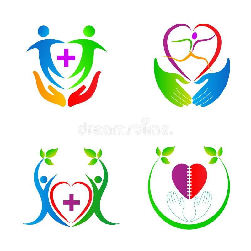 Hjärtaomsorgfolk vektor illustrationer