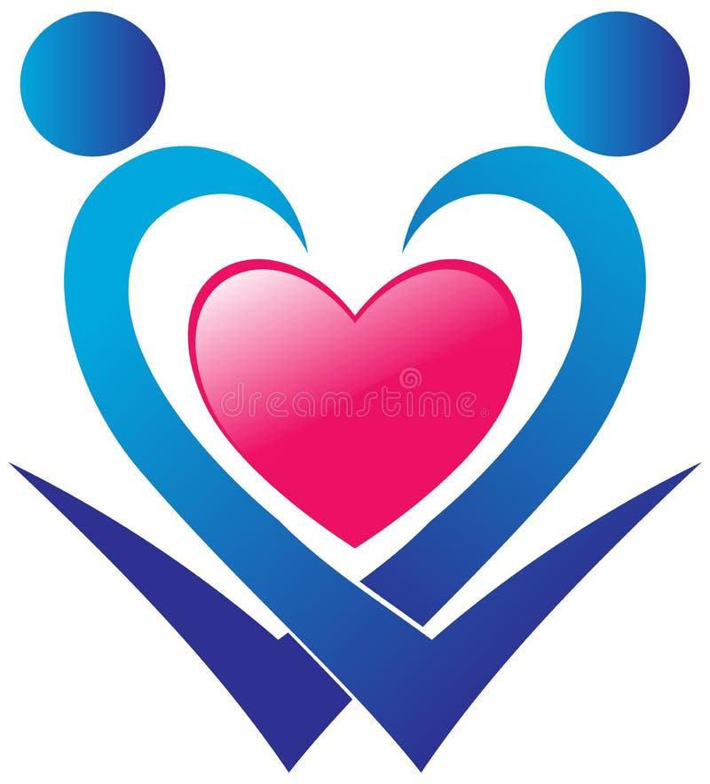 Hjärtaomsorglogo royaltyfri illustrationer