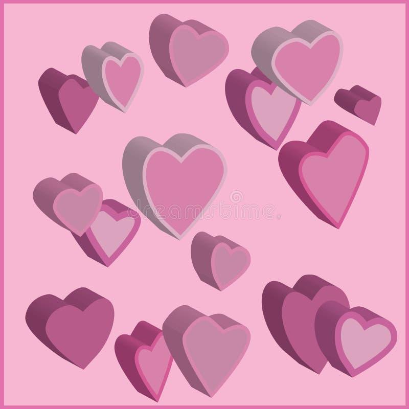 hjärtapink stock illustrationer