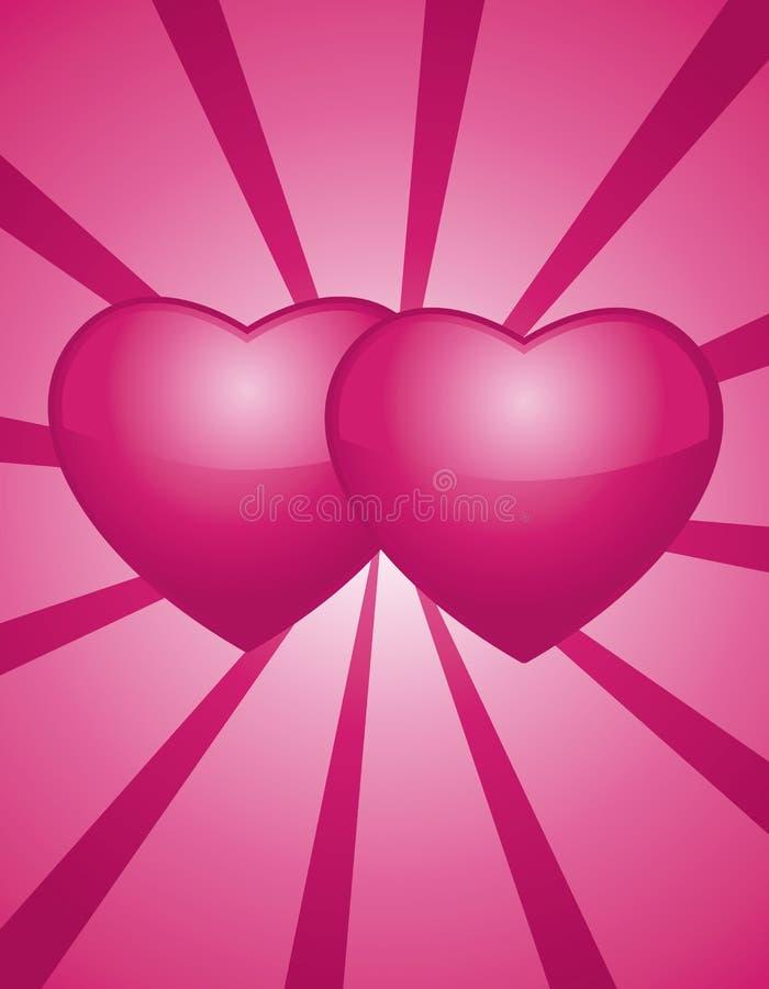 hjärtapinks två stock illustrationer
