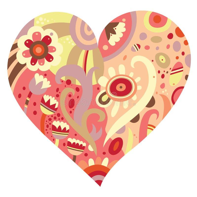 hjärtaprydnad vektor illustrationer