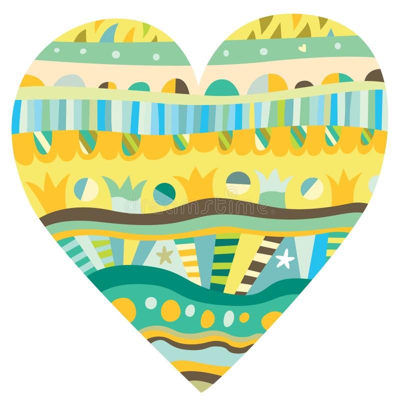 hjärtaprydnad royaltyfri illustrationer