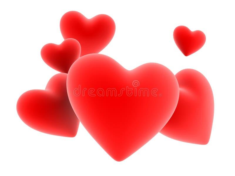 hjärtared vektor illustrationer