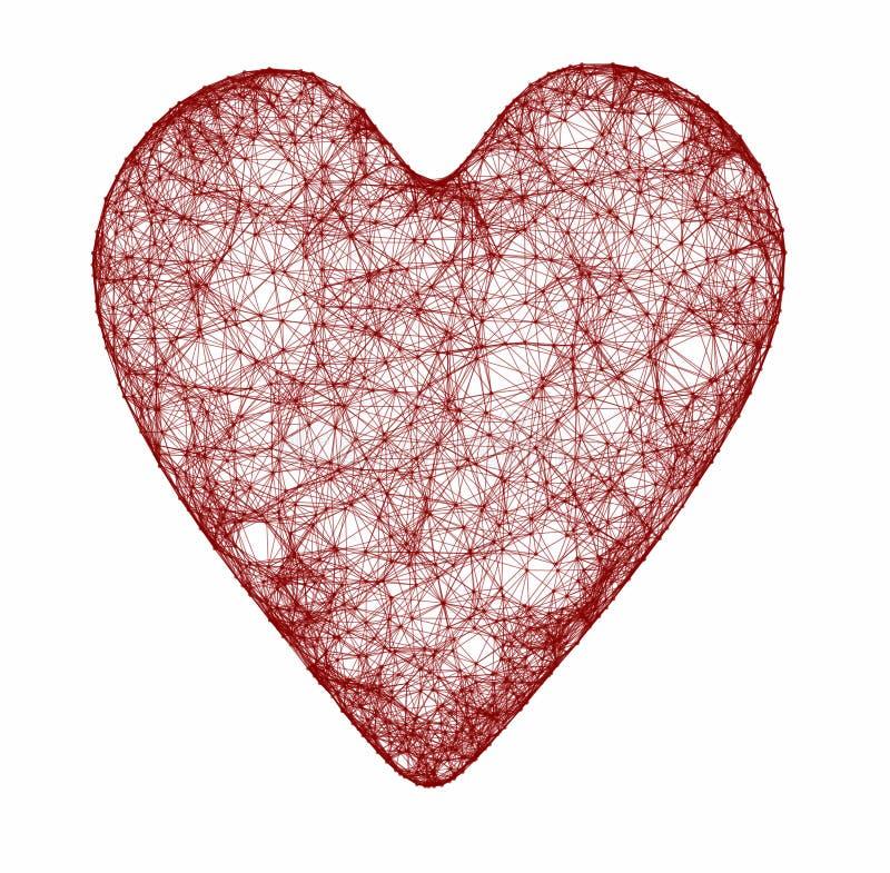 hjärtaredrengöringsduk royaltyfri bild
