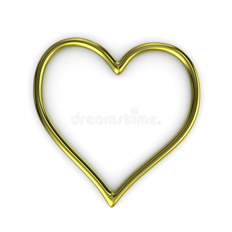 HjärtaShape guld Ring Frame vektor illustrationer