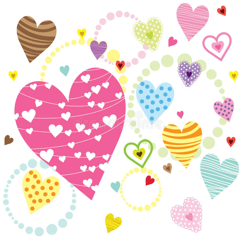 HjärtaShape modeller vektor illustrationer