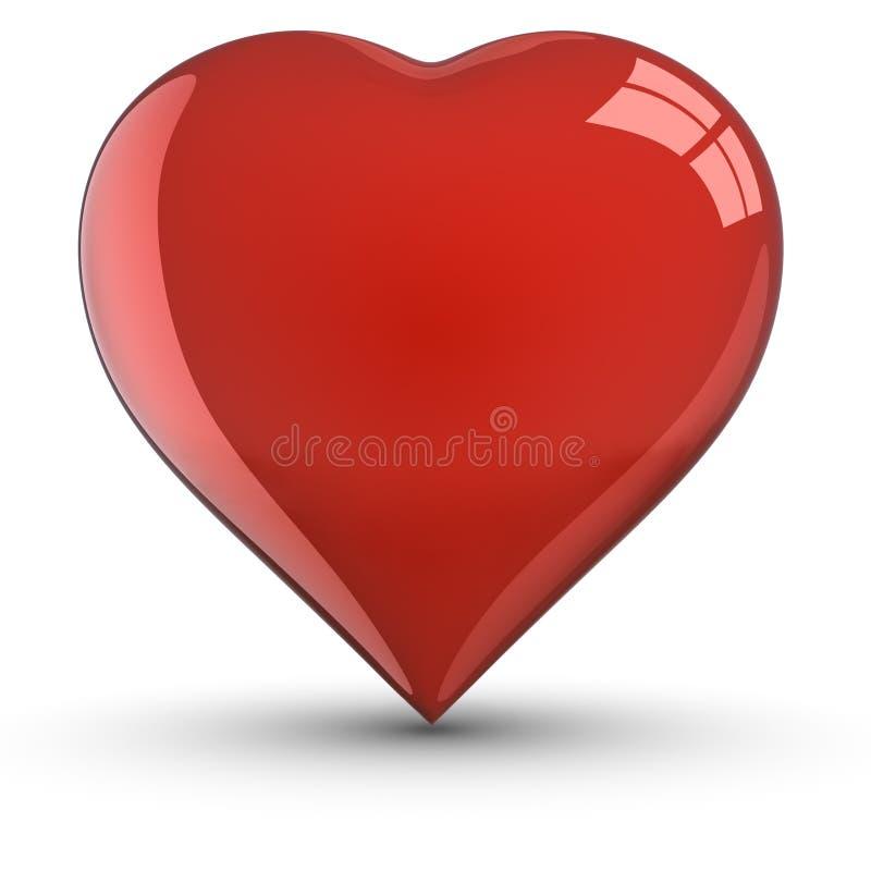 hjärtaskuggaform vektor illustrationer