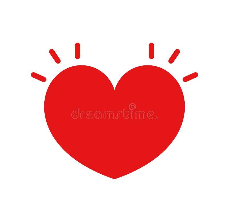Hjärtastryksymbol royaltyfri illustrationer