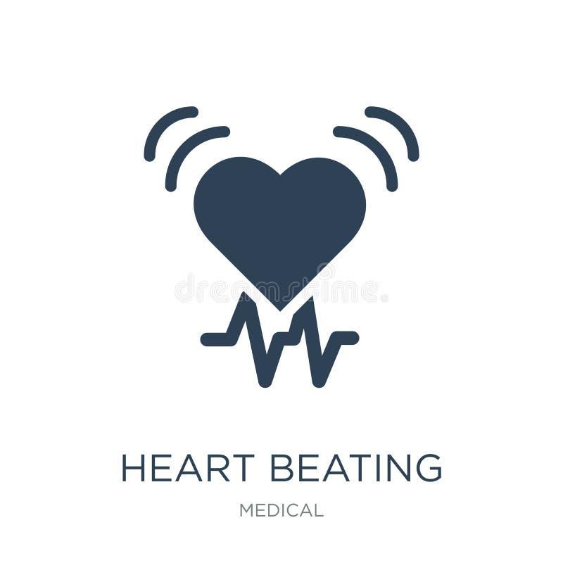 hjärtastryksymbol i moderiktig designstil hjärtastryksymbol som isoleras på vit bakgrund hjärta som slår den enkla vektorsymbolen stock illustrationer