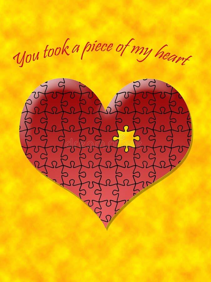 hjärtastycke stock illustrationer