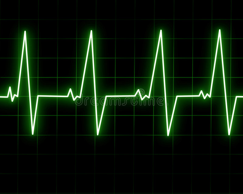 Hjärtatakt vektor illustrationer