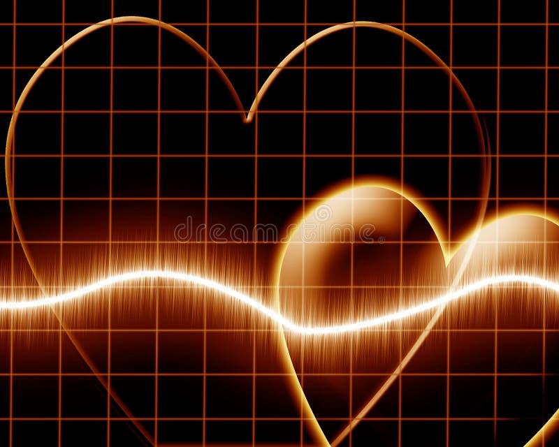 Hjärtatakt royaltyfri illustrationer
