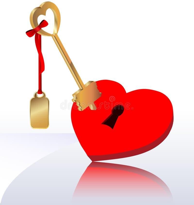 hjärtatangent vektor illustrationer