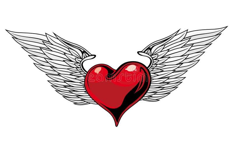 hjärtatatuering vektor illustrationer