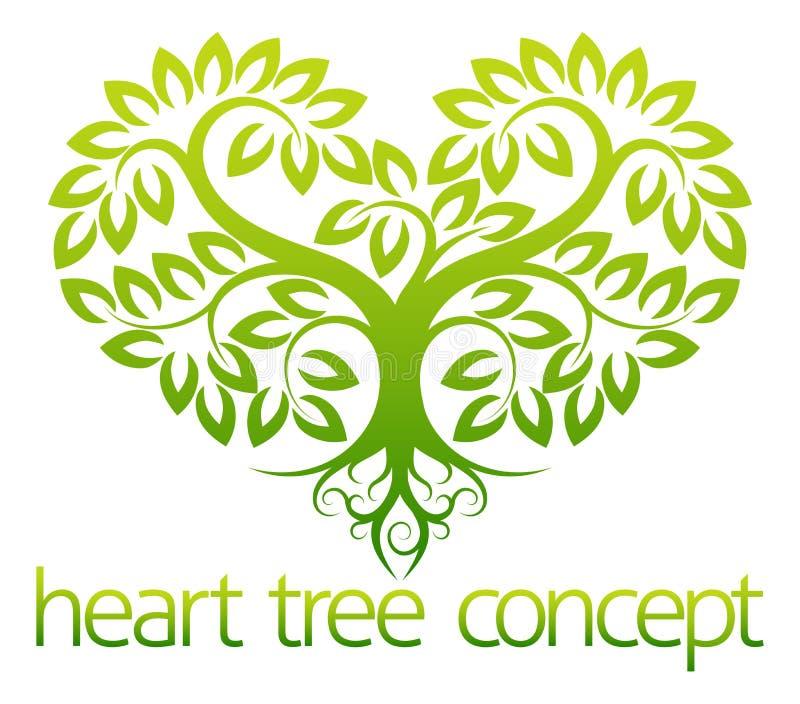Hjärtaträdbegrepp royaltyfri illustrationer