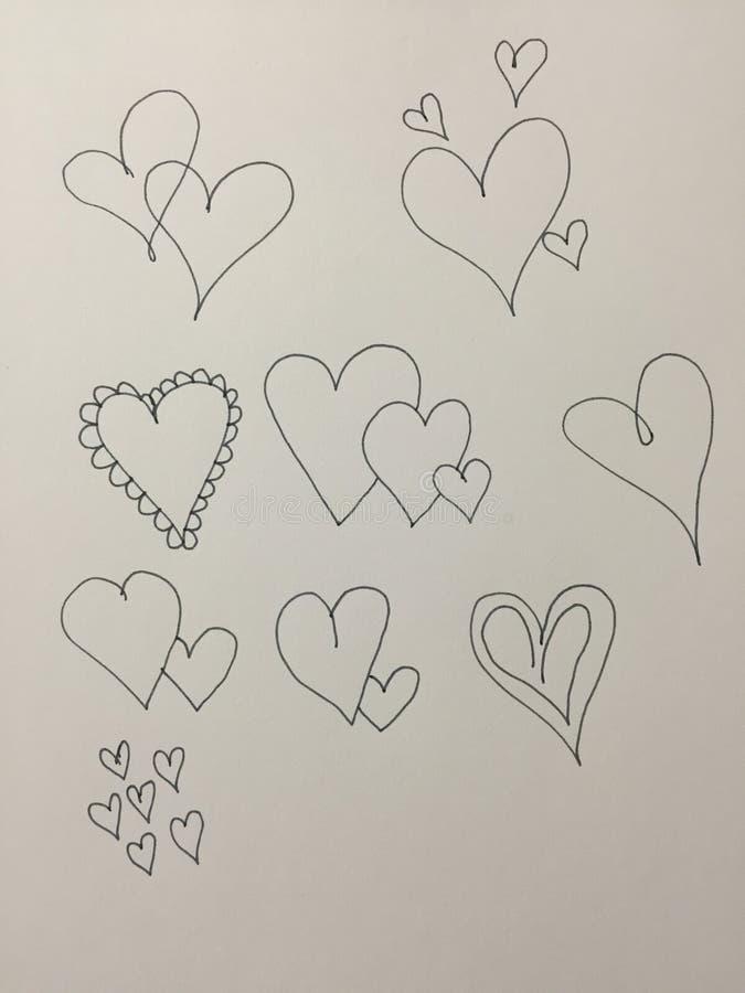 Hjärtatyper fotografering för bildbyråer