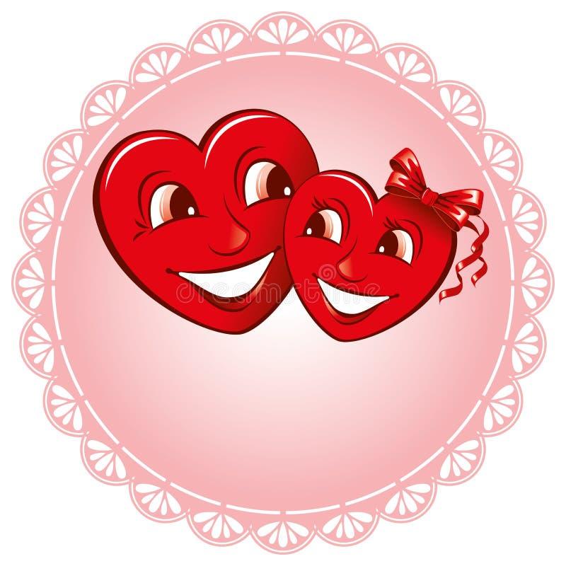 hjärtavänner två royaltyfri illustrationer