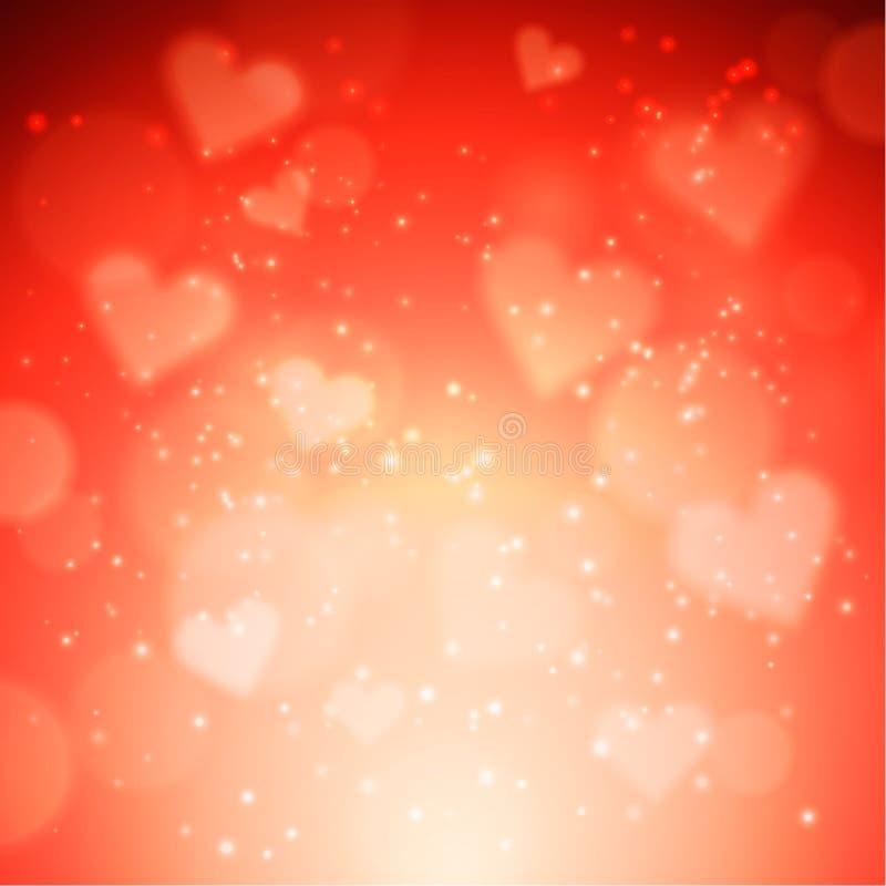 Hjärtavektorbakgrund stock illustrationer