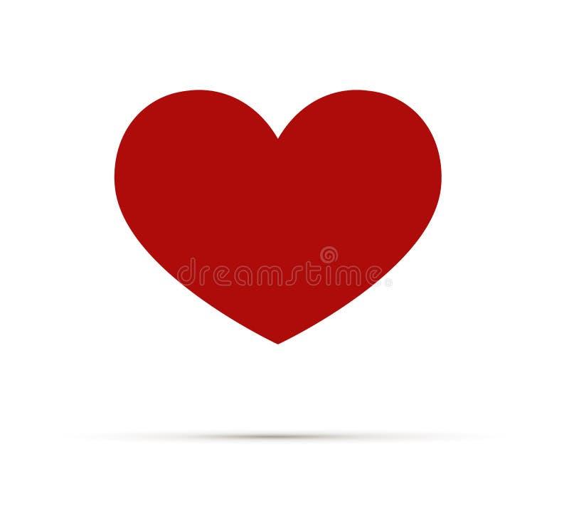 Hjärtavektorsymbol, förälskelsesymbol Ett symbol av omsorg och mjukhet Dagtecken för valentin s, emblem som isoleras på vit stock illustrationer