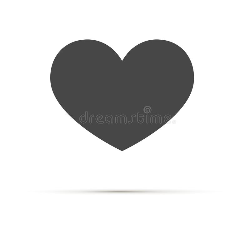 Hjärtavektorsymbol, förälskelsesymbol Ett symbol av omsorg och mjukhet Dagtecken för valentin s, emblem som isoleras på vit royaltyfri illustrationer