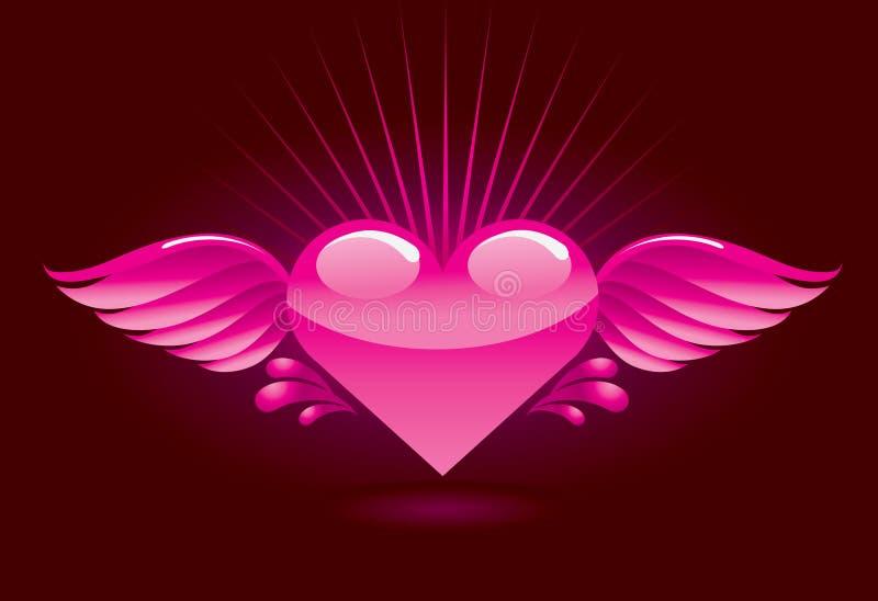 hjärtavingar vektor illustrationer