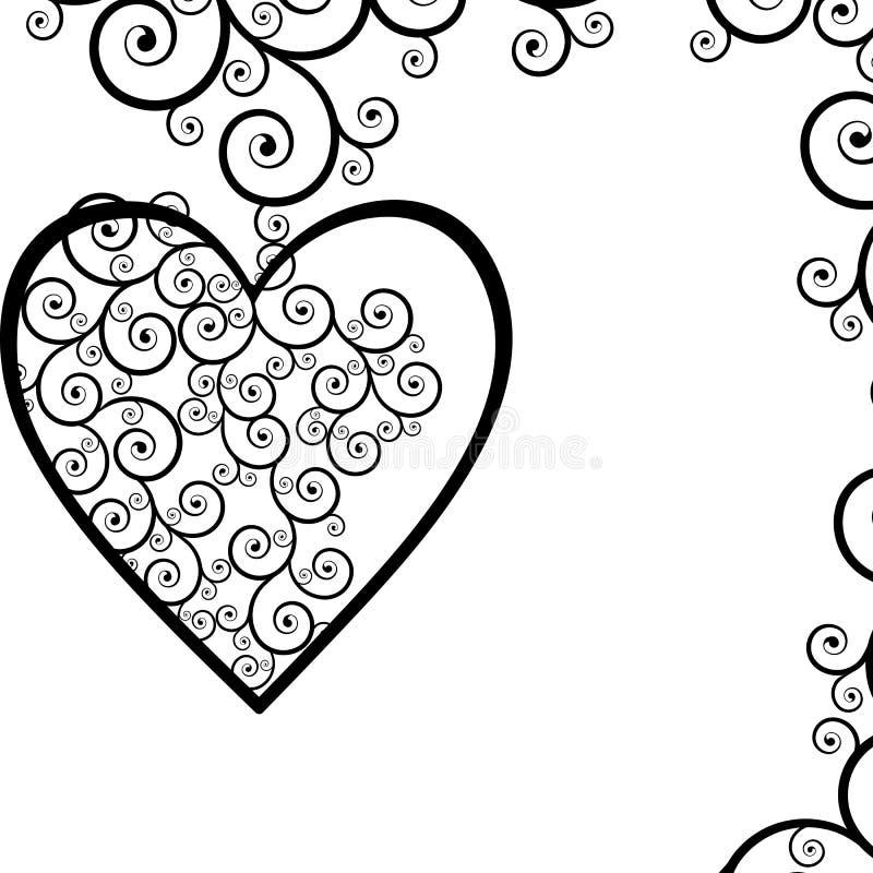 hjärtor royaltyfri illustrationer